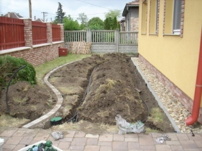 Öntözőrendszer és kertépítés Dorog