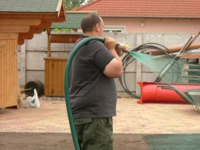 Füvesítés hidrovetéssel Dunaharaszti